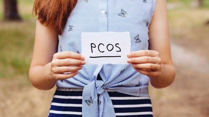 Vrouw met PCOS